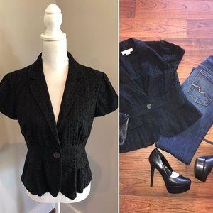 Michael Kors Shirt Sleeve Blazer, Black, size10